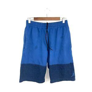 Jordan Brand Blue Jumpman Logo Elephant Print Cotton Athletics Gym Shorts Large