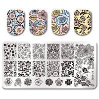 Nagel Kunst Schablone Stempelplatte Stamping Plate Floral Design DIY BPL-66
