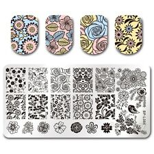 BORN PRETTY Nail Art Stamp Plate Manicure Image Template Floral Design BPL-66