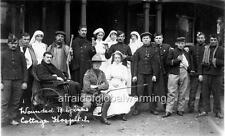 "Photo ca 1915 Herne Bay UK ""Wounded Belgian Soldiers"""