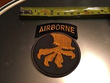 US ARMY 17th Airborne Division Regiment MILITARY PATCH Embroidered