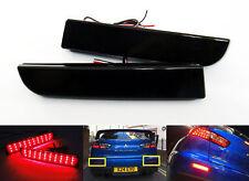 2 Black Smoked Lens LED Rear Bumper Reflector Tail Brake Stop Light Lancer EVO X