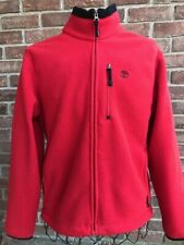 Timberland Polartec Fleece Jacket Mens Medium Red