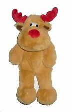 GOODBOY CHRISTMAS RAGGY REINDEER SOFT PLUSH DOG PUPPY TOY 26CM SQUEAKY 10948 NEW