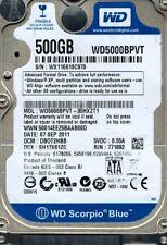 Western Digital WD5000BPVT-35HXZT1 500GB DCM: DBOT2HBB