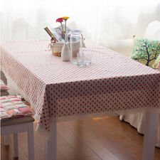 Strawberry Pattern Tablecloth Rectangle Dining Wedding Party Table Cloth Cover