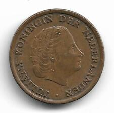 Netherlands Queen Juliana One Cent Coin -- 1963 MUST L@@K!