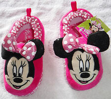 "NWT Girls ""Minnie"" Slippers Size X-Large 11/12"