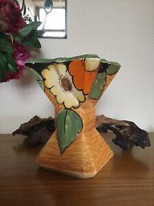 1930s Myott Sons & Co Art Deco Ceramic Hand Painted Vase Planter