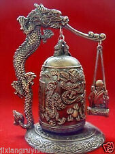 HOT SALE Excellent Tibet Brass Dragon buddha Bell