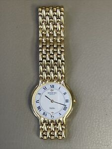 Raymond Weil Geneva Fidelio 4802 18K Gold Electroplated Mens Watch Vintage Date