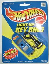 New ListingHot Wheels Light-Up Keychain Blue Car 1998 Mattel Key Ring New with Package