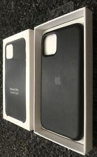 Black Original Apple iPhone 11 Pro Genuine Leather Case Cover