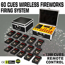 60 Cues Fireworks Firing System W/1200 Channel Multifunctional Electric Igniters