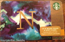 "STARBUCKS US 2014 GIFT CARD ""LETTER N"" A to Z Alphabet Series NEW 99 NO VALUE"