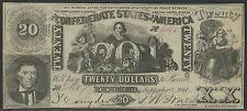 CSA #T-20 CONFEDERATE STATES OF AMERICA NOTE CU+ BT344