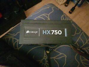 Corsair HX750 Power Supply — 750 Watt 80 PLUS® Gold Certified Modular PSU