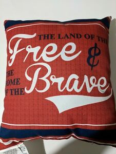 Land of the Free Indoor Outdoor Mainstays Decorative Pillow  NEW