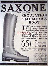 Small 1916 SAXONE WW1 Officers Field Service Boot ADVERT - Original WW1 Print Ad