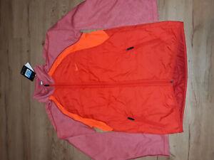 NIKE Speed Hybrid Thermal Full Zip Jacket Red Orange Men Size M 543358-600