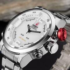 Reloj De Cuarzo OHSEN hombre elegante pantalla de Hora Dual Reloj Deportivo LED Impermeable