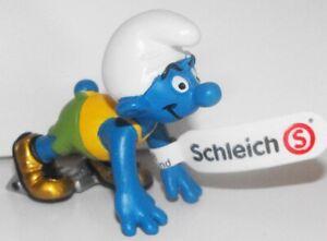 Olympic Sprinter Smurf Plastic Figurine 2-inch Plastic Runner Figure 20741