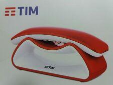 Cordless FACILE SMILE Rosso Bianco con Design Innovativo e Vivavoce Tim Nuovo