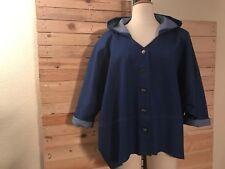 * yakoot by akh * Jeans-chaqueta, capucha, geknöpft, langer brazo, GR 46-56 (os), recuadro