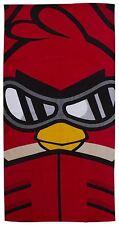 Angry Birds Red Go Fast Beach, Bath, Swimming 100% Cotton Towel - 70cm x 140cm
