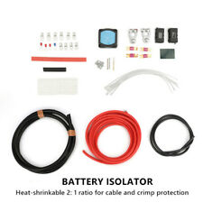 Heavy Duty Car Dual Auxiliary Battery Isolator Complete Copper Clad Cables Part