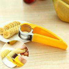New Banana Slicer Fruit Cutter Vegetable Sausage Meat Cucumber Chopper Gadget BR