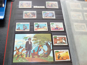 SET OF 10 DISNEY STAMPS - TURKS & CAICOS ISLANDS 'UNCLE REMUS' CHRISTMAS 1981