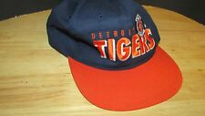 Detroit Tigers vintage snapback baseball hat cap MLB blue orange block letters