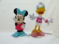 Lot of 2 Disney Minnie Mouse and Daisy Duck Rubberized Figurines Mattel 2014