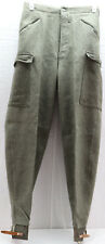 Swedish dated 1944 wool Pants with attached leg straps W29.5in x L33in M9200