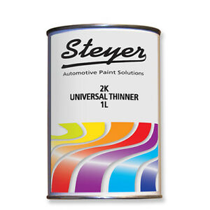 1 Litre 2K Universal Acrylic Paint Thinner for 2K Paints Lacquers & Primers