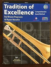 Tradition of Excellence Trombone Book 2 By: Pearson & Nowlin with Dvd W62Tb New