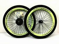 "Vitesse 20"" Bicycle Wheel Set Front, Rear, 7-Speed With 1.75"" Tires Bike # j55"