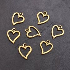 Wholesale Tibetan Sliver Heart Charms Pendant Jewelry Findings 14*17MM Z3001