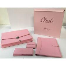 Blush Ladies Girls Pink Soft Leather 4 Piece Bag/ Laptop /Wallet/Purse Set S3LP#