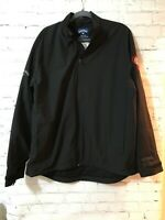 Callaway Weather Series Mens Black Solid Long Sleeve Activewear Pullover Size L