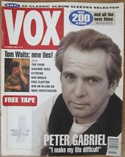 Peter Gabriel - Vox magazine - October 1992