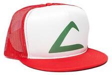 Retro POKEMON -ASH KETCHUM Flat Bill Printed Hat Cap HIGH QUALITY
