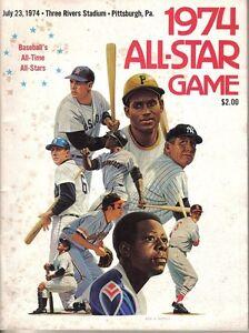 1974 (Jul. 23) All-Star Game Baseball Program,Three Rivers Stadium, scored~ Good
