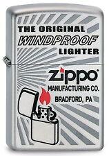ZIPPO Feuerzeug THE ORIGINAL WINDPROOF LIGHTER Logo Strahlen Zippo NEU OVP