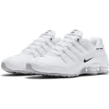 Nike Shox NZ EU Running Shoes White Black 501524-106 Men's NEW