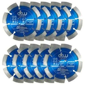 """10 x 115mm 4.5"""" DTW ANGLE GRINDER DRY DIAMOND CUTTING DISC BLADE CONCRETE STO..."""