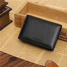 Black Men's Genuine Leather Wallet Bifold ID Credit Card Holder Purse Money Clip