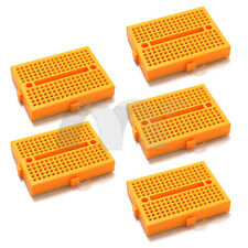 5x Yellow Mini Solderless Prototype Breadboard 170 Tie-points for Arduino Shield