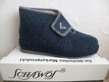 Schawos Ladies Mule Slippers House Shoe Mules Blue 2060 New